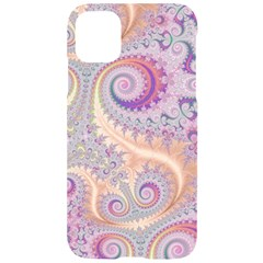 Pastel Pink Intricate Swirls Spirals  Iphone 11 Black Uv Print Case by SpinnyChairDesigns