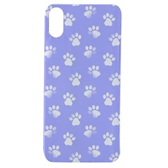Animal Cat Dog Paw Prints Pattern Apple Iphone Xs Tpu Uv Case by SpinnyChairDesigns