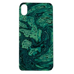 Dark Green Marbled Texture Apple Iphone Xr Tpu Uv Case