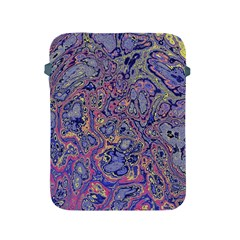 Colorful Marbled Paint Texture Apple Ipad 2/3/4 Protective Soft Cases by SpinnyChairDesigns