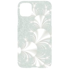 Mint Cream And White Intricate Swirl Spiral Iphone 11 Black Uv Print Case by SpinnyChairDesigns