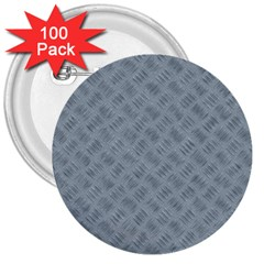 Grey Diamond Plate Metal Texture 3  Buttons (100 Pack)