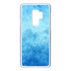 Abstract Sky Blue Texture Samsung Galaxy S9 Plus Seamless Case(white) by SpinnyChairDesigns