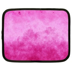 Abstract Pink Grunge Texture Netbook Case (xl) by SpinnyChairDesigns