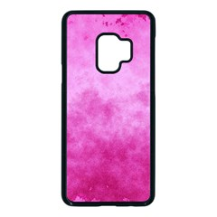 Abstract Pink Grunge Texture Samsung Galaxy S9 Seamless Case(black) by SpinnyChairDesigns