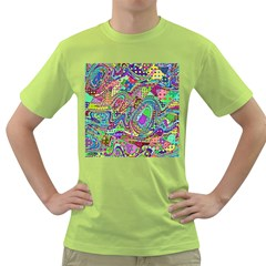 Ugliest Pattern In The World Green T-shirt by SpinnyChairDesigns