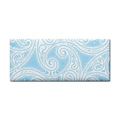 Light Blue And White Abstract Paisley Hand Towel by SpinnyChairDesigns