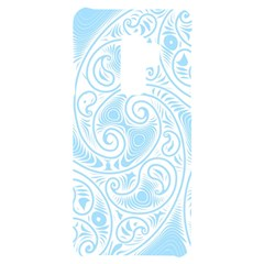 Light Blue And White Abstract Paisley Samsung S9 Plus Black Uv Print Case by SpinnyChairDesigns