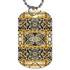Antique Black And Gold Dog Tag (one Side) by SpinnyChairDesigns