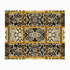 Antique Black And Gold Small Glasses Cloth (2 Sides) by SpinnyChairDesigns