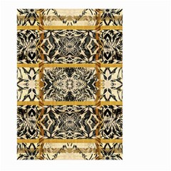 Antique Black And Gold Large Garden Flag (two Sides) by SpinnyChairDesigns