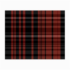 Black And Red Striped Plaid Small Glasses Cloth