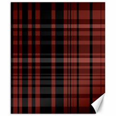 Black And Red Striped Plaid Canvas 20  X 24  by SpinnyChairDesigns