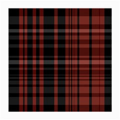 Black And Red Striped Plaid Medium Glasses Cloth by SpinnyChairDesigns