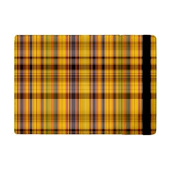 Madras Plaid Yellow Gold Ipad Mini 2 Flip Cases by SpinnyChairDesigns