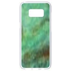 True Turquoise Samsung Galaxy S8 White Seamless Case