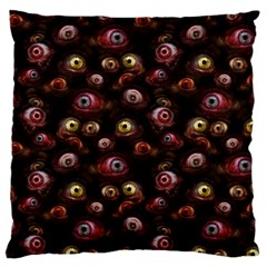 Zombie Eyes Pattern Standard Flano Cushion Case (one Side)