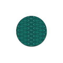 Teal Ikat Pattern Golf Ball Marker (4 Pack) by SpinnyChairDesigns