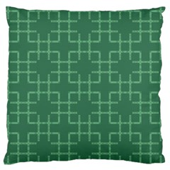 Dark Mint Green Geometric Standard Flano Cushion Case (one Side) by SpinnyChairDesigns