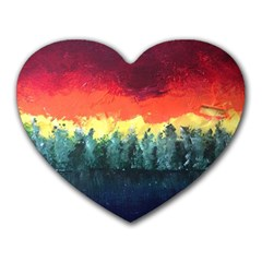 Rainbow Landscape Heart Mousepads