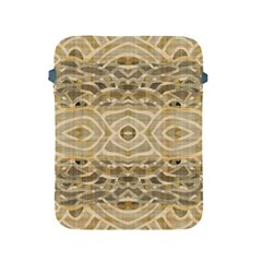 Ecru And Brown Intricate Pattern Apple Ipad 2/3/4 Protective Soft Cases by SpinnyChairDesigns