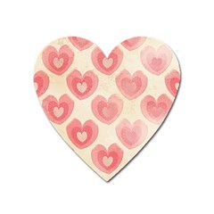 Pink Faded Hearts Heart Magnet by SpinnyChairDesigns