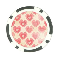 Pink Faded Hearts Poker Chip Card Guard (10 Pack) by SpinnyChairDesigns