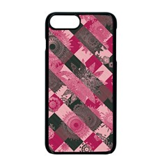 Abstract Pink Grey Stripes Iphone 7 Plus Seamless Case (black)