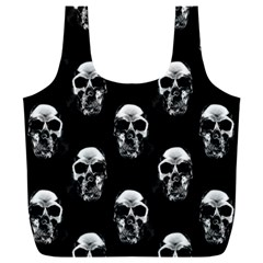 Black And White Skulls Full Print Recycle Bag (xxl)