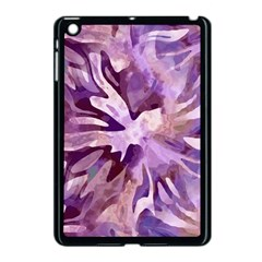 Plum Purple Abstract Floral Pattern Apple Ipad Mini Case (black)
