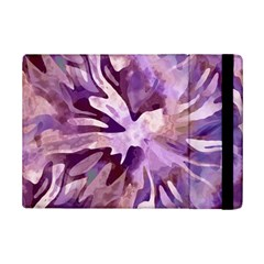 Plum Purple Abstract Floral Pattern Ipad Mini 2 Flip Cases by SpinnyChairDesigns