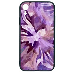 Plum Purple Abstract Floral Pattern Iphone Xr Soft Bumper Uv Case