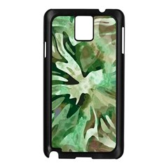 Green Brown Abstract Floral Pattern Samsung Galaxy Note 3 N9005 Case (black)