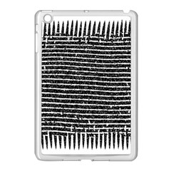 Black And White Abstract Grunge Stripes Apple Ipad Mini Case (white)