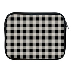 Black And White Buffalo Plaid Apple Ipad 2/3/4 Zipper Cases by SpinnyChairDesigns