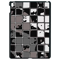 Black And White Checkered Grunge Pattern Apple Ipad Pro 9 7   Black Seamless Case by SpinnyChairDesigns