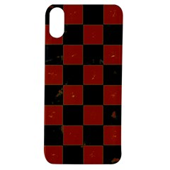 Red And Black Checkered Grunge  Apple Iphone Xs Tpu Uv Case