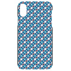 Country Blue Checks Pattern Iphone Xr Black Uv Print Case