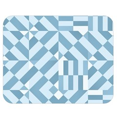 Truchet Tiles Blue White Double Sided Flano Blanket (medium)