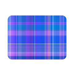 Madras Plaid Blue Purple Double Sided Flano Blanket (mini)