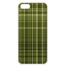Green Madras Plaid Iphone 5 Seamless Case (white)