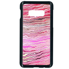 Pink Abstract Stripes Samsung Galaxy S10e Seamless Case (black)