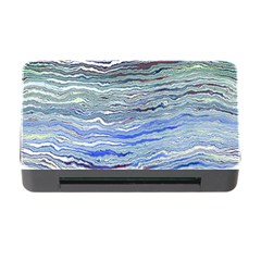Blue Abstract Stripes Memory Card Reader With Cf