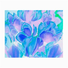 Ciclamen Flowers Blue Small Glasses Cloth