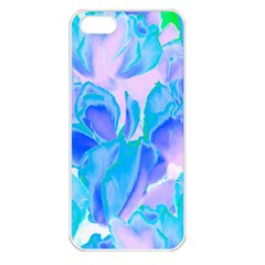 Ciclamen Flowers Blue Iphone 5 Seamless Case (white)