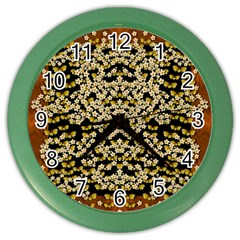 Free As A Flower And Frangipani In  Freedom Color Wall Clock