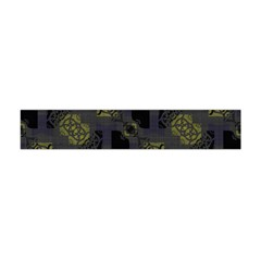 Grey Green Black Abstract Checkered Stripes Flano Scarf (mini)