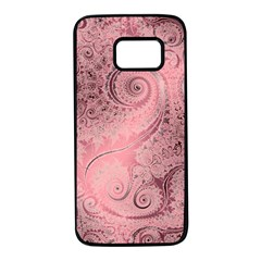 Orchid Pink And Blush Swirls Spirals Samsung Galaxy S7 Black Seamless Case by SpinnyChairDesigns