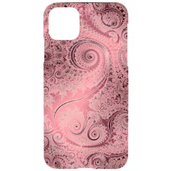 Orchid Pink And Blush Swirls Spirals Iphone 11 Pro Max Black Uv Print Case by SpinnyChairDesigns
