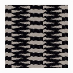 Black And White Zebra Ikat Stripes Medium Glasses Cloth by SpinnyChairDesigns